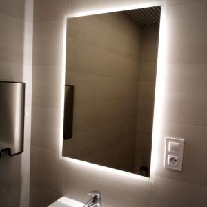 Зеркало с подсветкой на раковиной