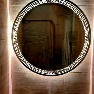 Круглое зеркало с подсветкой Меандр