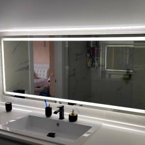 Прямоугольное зеркало с подсветкой