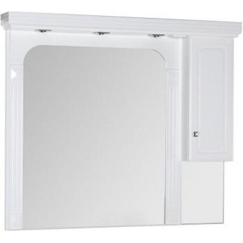 Зеркало-шкаф Aquanet Фредерика 140 белый