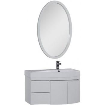 Комплект мебели для ванной Aquanet Сопрано 95 R белый (2 дверцы 2 ящика)