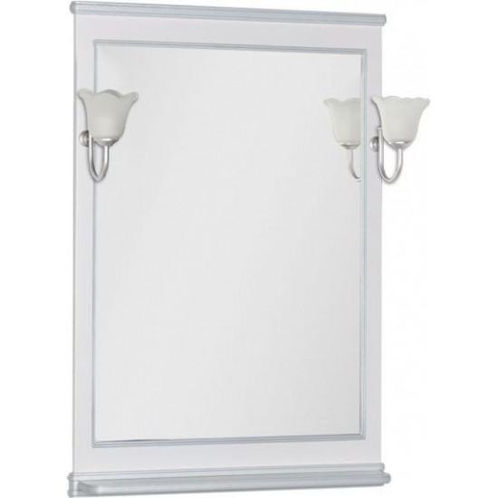 Зеркало Aquanet Валенса 80 белый краколет/серебро в интернет-магазине ROSESTAR фото