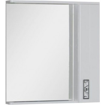 Зеркало-шкаф с подсветкой Aquanet Паллада 80 белый