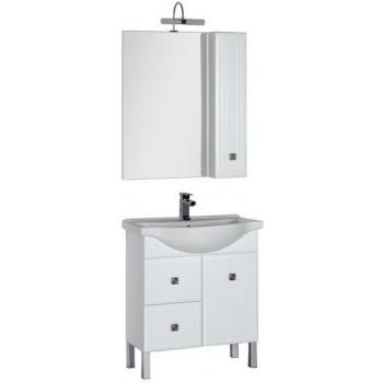 Комплект мебели для ванной Aquanet Стайл 75 белый (1 дверца 2 ящика)