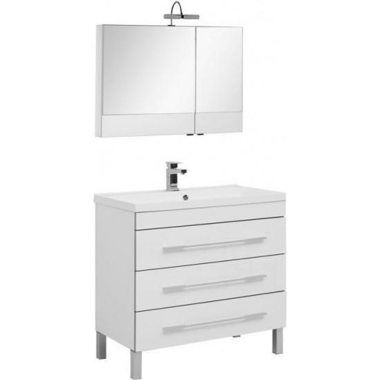 Комплект мебели для ванной Aquanet Верона NEW 90 белый (напольный 3 ящика) в интернет-магазине ROSESTAR фото