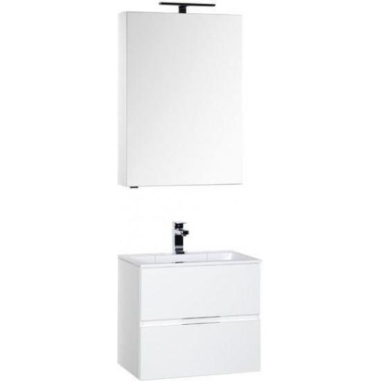 Комплект мебели для ванной Aquanet Алвита 60 белый в интернет-магазине ROSESTAR фото