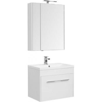 Комплект мебели для ванной Aquanet Августа 75 белый