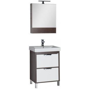 Комплект мебели для ванной Aquanet Гретта 60 венге (камерино 2 ящика)