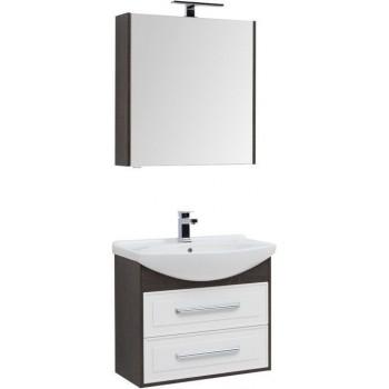 Комплект мебели для ванной Aquanet Остин 75 дуб кантербери/белый