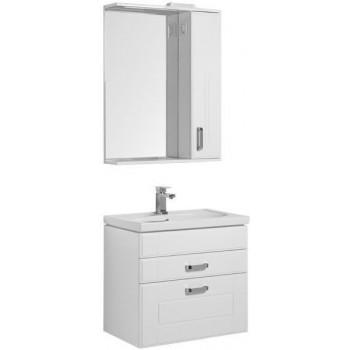 Комплект мебели для ванной Aquanet Рондо 70 белый (2 ящика)