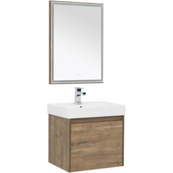 Комплект мебели для ванной Aquanet Nova Lite 60 дуб рустикальный (1 ящик)