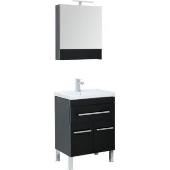 Комплект мебели для ванной Aquanet Сиена 60 черный (напольный 1 ящик 2 дверцы)