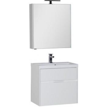 Комплект мебели для ванной Aquanet Латина 70 белый (2 ящика)