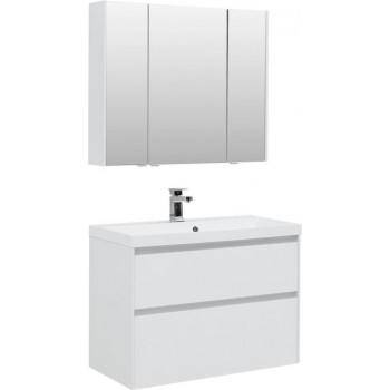 Комплект мебели для ванной Aquanet Гласс 90 белый
