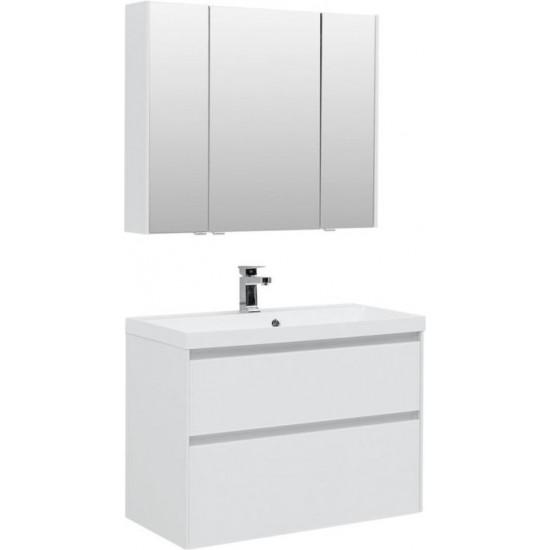 Комплект мебели для ванной Aquanet Гласс 90 белый в интернет-магазине ROSESTAR фото