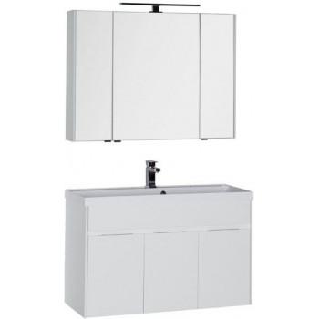 Комплект мебели для ванной Aquanet Латина 100 белый