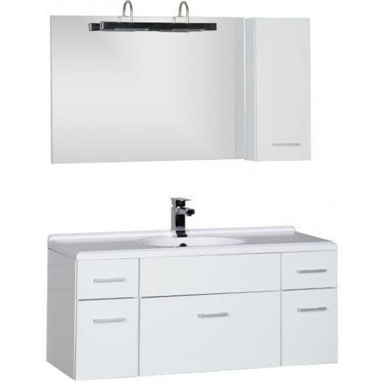 Комплект мебели для ванной Aquanet Данте 110 L белый (1 навесной шкафчик) в интернет-магазине ROSESTAR фото