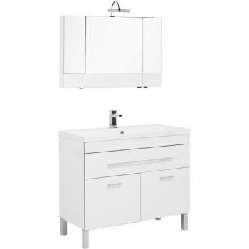 Комплект мебели для ванной Aquanet Верона NEW 100 белый (напольный 1 ящик 2 дверцы)