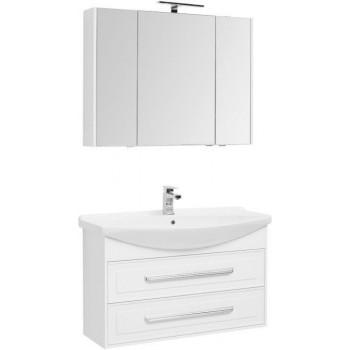 Комплект мебели для ванной Aquanet Остин 105 белый
