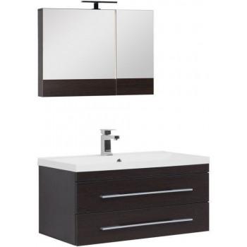 Комплект мебели для ванной Aquanet Нота NEW 90 венге (камерино)