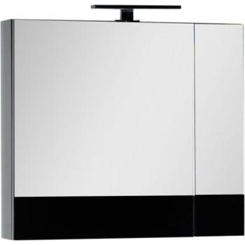 Зеркало-шкаф Aquanet Верона 70 черный