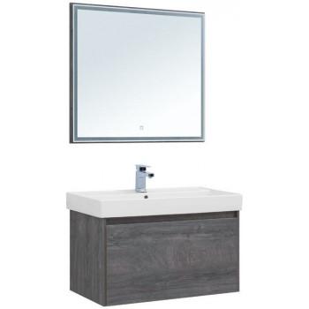 Комплект мебели для ванной Aquanet Nova Lite 90 дуб рошелье (1 ящик)