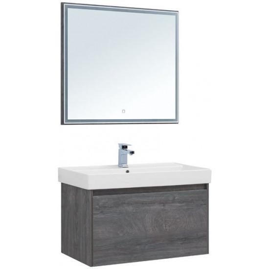 Комплект мебели для ванной Aquanet Nova Lite 90 дуб рошелье (1 ящик) в интернет-магазине ROSESTAR фото