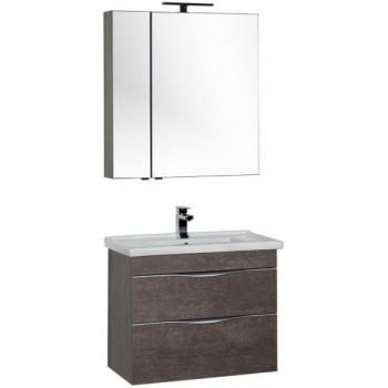 Комплект мебели для ванной Aquanet Эвора 80 дуб антик