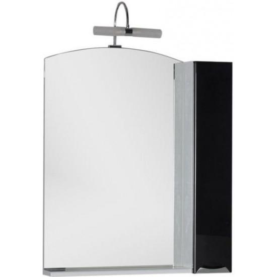 Зеркало-шкаф Aquanet Асти 75 черный (шкаф/полка) в интернет-магазине ROSESTAR фото