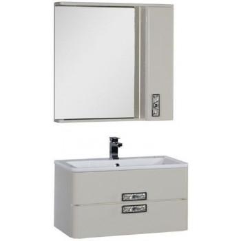 Комплект мебели для ванной Aquanet Паллада 90 слоновая кость