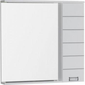 Зеркало-шкаф с подсветкой Aquanet Доминика 90 L LED белый