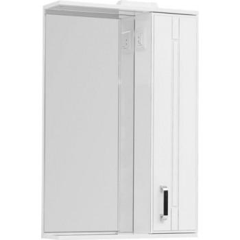 Зеркало-шкаф с подсветкой Aquanet Рондо 60 белый антик