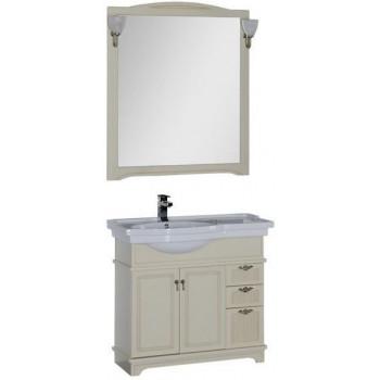 Комплект мебели для ванной Aquanet Луис 90 L бежевый