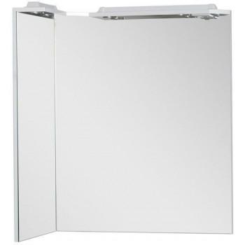 Зеркало с подсветкой Aquanet Корнер 88 L белый