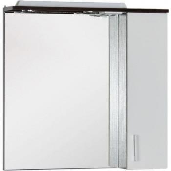 Зеркало-шкаф с подсветкой Aquanet Тиана 75 венге