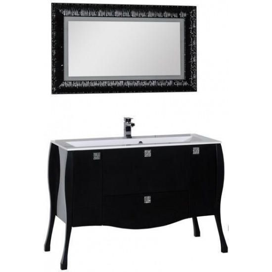 Комплект мебели для ванной Aquanet Мадонна 120 черный в интернет-магазине ROSESTAR фото