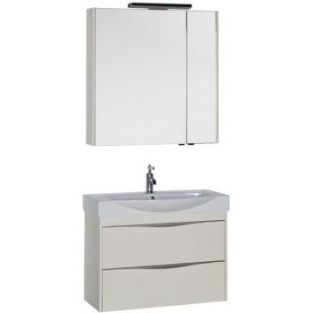 Комплект мебели для ванной Aquanet Франка 85 слоновая кость
