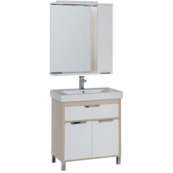 Комплект мебели для ванной Aquanet Гретта 75 светлый дуб