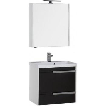 Комплект мебели для ванной Aquanet Тиволи 70 черный
