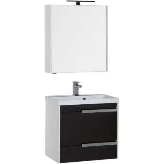 Комплект мебели для ванной Aquanet Тиволи 70 черный в интернет-магазине ROSESTAR фото