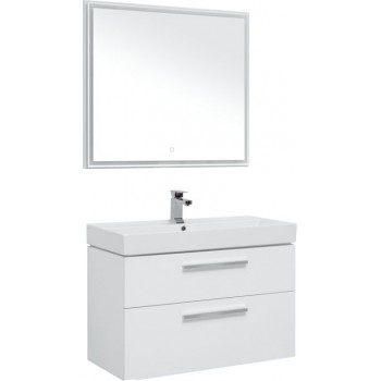 Комплект мебели для ванной Aquanet Nova 90 белый (2 ящика)