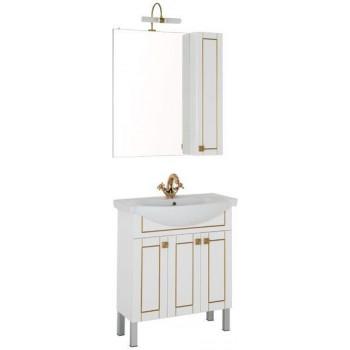 Комплект мебели для ванной Aquanet Честер 75 белый/золото