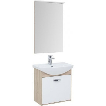 Комплект мебели для ванной Aquanet Грейс 65 дуб сонома/белый (1 ящик)
