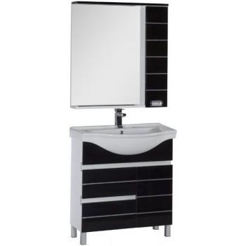 Комплект мебели для ванной Aquanet Доминика 80 черный