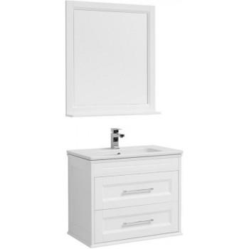 Комплект мебели для ванной Aquanet Бостон М 80 белый