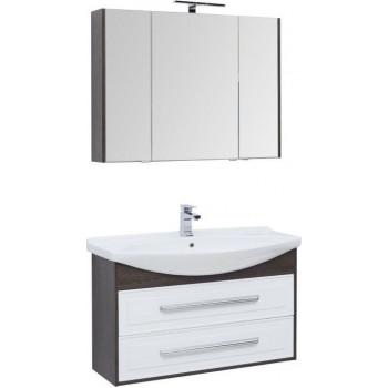 Комплект мебели для ванной Aquanet Остин 105 дуб кантербери/белый