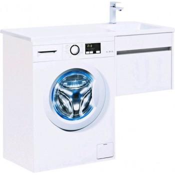 Тумба с раковиной Aquanet Токио 110 R белый (подвесная, 1 ящик)