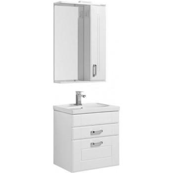 Комплект мебели для ванной Aquanet Рондо 60 белый (2 ящика)