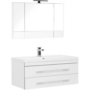 Комплект мебели для ванной Aquanet Верона NEW 100 белый (подвесной 2 ящика)