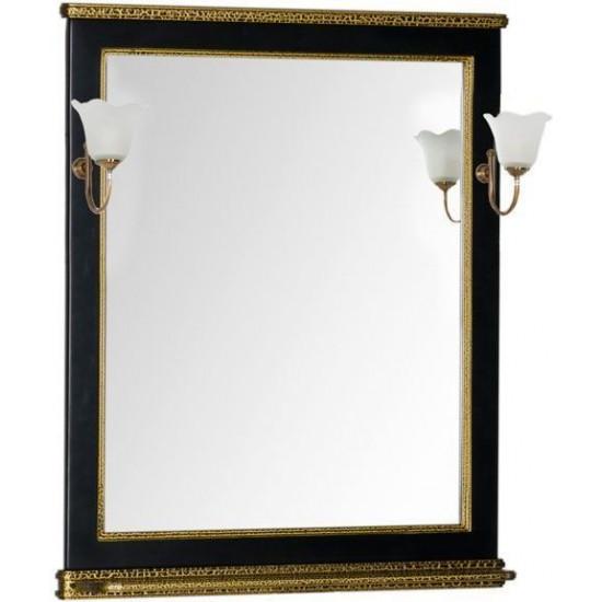 Зеркало Aquanet Валенса 80 черный краколет/золото в интернет-магазине ROSESTAR фото